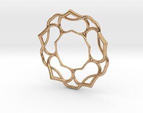 3D printable model 5 petals pendant