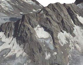 3D highlands Mountain landscape