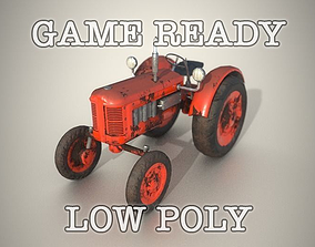 3D model Old Tractor Game Ready Low Poly other