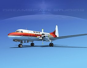 Convair CV-580 Gem State Air 3D model