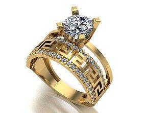 jewelry 3D printable model wedding ring