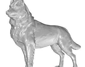 3D model dog husky