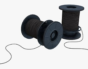 German Cable Reels WWII 3D asset