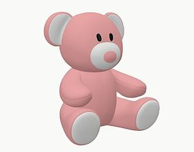 bear teddy plush toy pink baby ty princess 3D