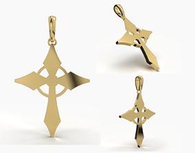 JESUS CROSS GOLD PENDANT daily-wear 3D print model