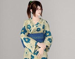 3D model Natsumi in Kimono pose 01