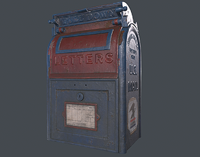 Old mailbox 3D asset low-poly