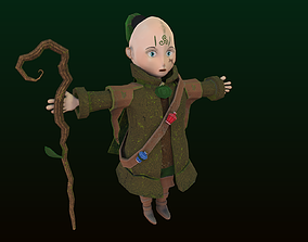 3D asset Anime Mage game character