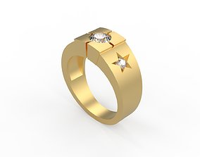 Woman Solitaire Ring 358 3D printable model