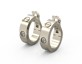 Cartier Earrings 3D printable model