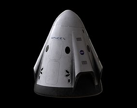 3D asset Crew Dragon SpaceX Pod