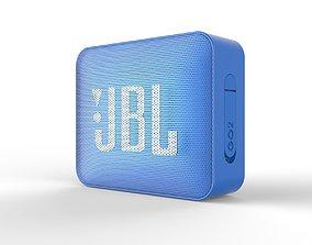 JBL GO2 blue SPEAKER -customizable speaker 3d low-poly