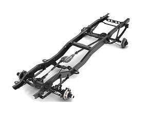 3D model PICKUP TRUCK CHASSIS 4WD
