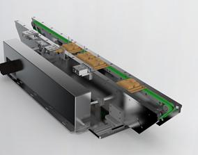 Width adjustable double belt assembly line 3D