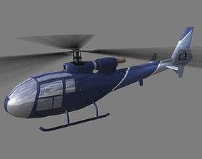 Gazelle V1 Helicopter 3D model