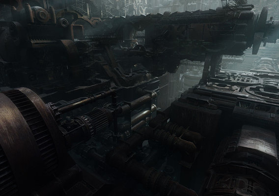 Derelict Ship Interior - Matte Painting