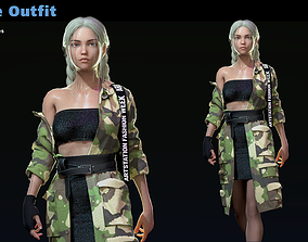 Female outfit MD CLO3D projects OBJ