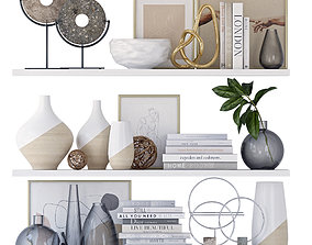 3D Shelving with decor