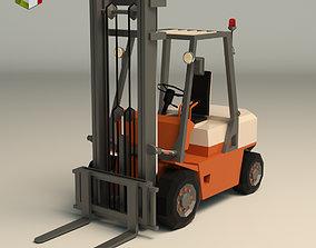 3D asset Low Poly Forklift 01