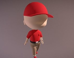 LOWPOLY BABY WALKCYCLE 3D asset