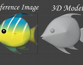 Tropical Fish Emoji 3D print model