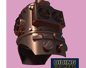 Antique diving helmet-3 3D model