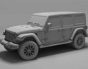 Jeep Wrangler Unlimited Sahara 2018 3D