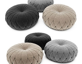 Tufted Round Ottoman 3D