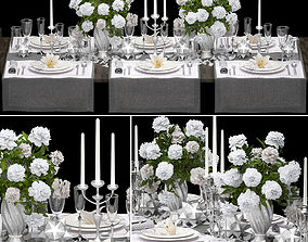 3D Table setting restaurant