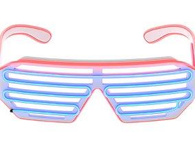 3D model Wire Neon LED Glasses
