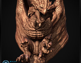 Monster Hunter - Rathalos - 3d printable Diorama