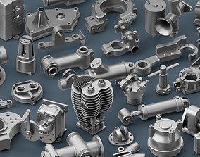 Hard Surface Mechanical Kitbash Bundle 3D ops