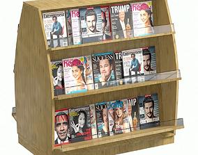 Wooden Shelf Magazine 3D model
