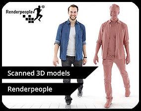 Joscha 0120 Smiling Casualy Walking Man 3D
