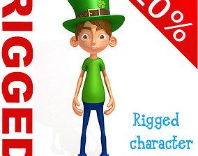 3D model Leprechaun boy Cartoon Rigged