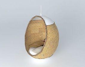 3D printable model swing pod sofa