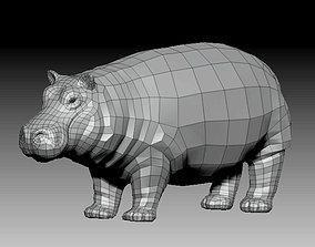3D HIPPOPOTAMUS - LOWPOLY VR / AR ready