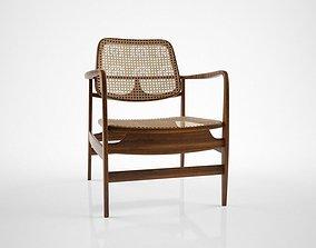 3D model Sergio Rodrigues Vintage Oscar chair