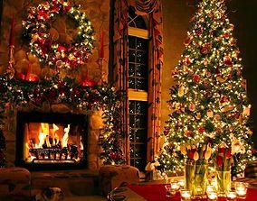 decoration 3D PBR Christmas tree