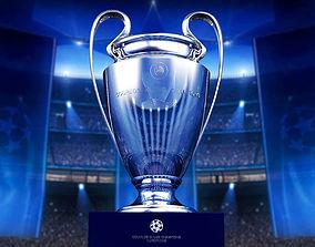 Champions League Cup UEFA 3D model