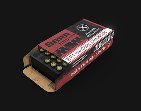 Ammo Pack PBR VR AR Ready 3D model