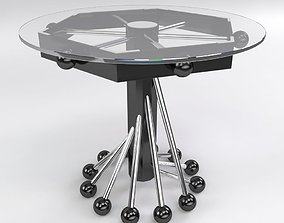 3D Modern Glass Coffee Table