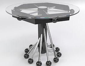 3D Modern Glass Coffee Table
