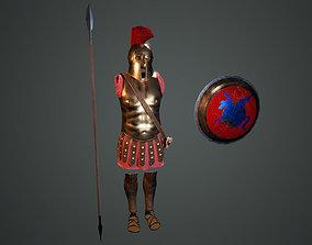 Ancient Greek Hoplite Armour 3D asset game-ready