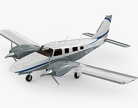 3D Piper PA-34 Seneca V