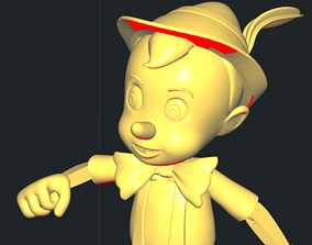 3D printable model figurine Pinocchio
