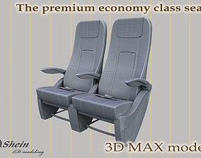 3D model the premium economy class seat