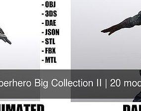 3D model Superhero Big Collection II cartoon