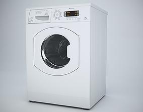 Washing Machine Hotpoint WMAO743K 3D asset