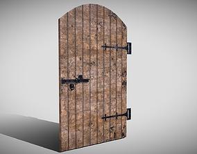 Medieval Arched Door 3D asset